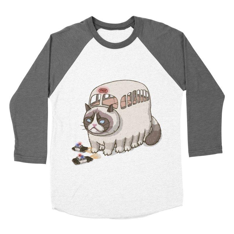 grumpy bus Women's Baseball Triblend T-Shirt by makapa's Artist Shop