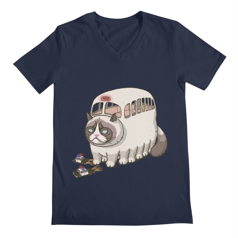 grumpy bus Men's V-Neck by makapa's Artist Shop