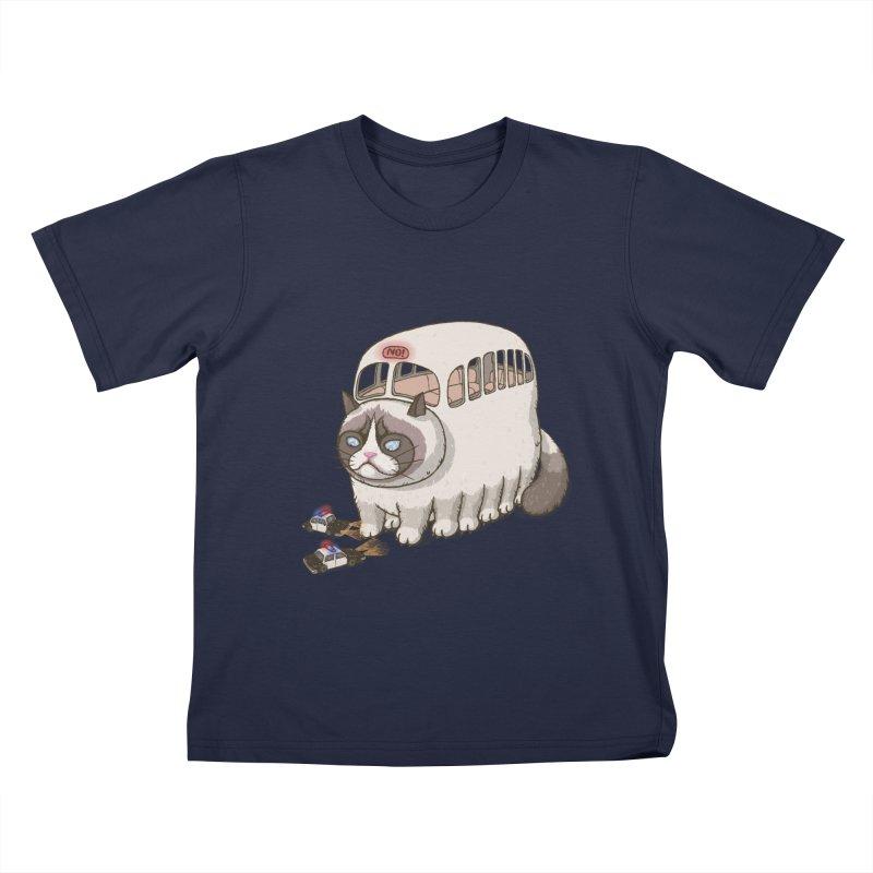 grumpy bus Kids T-shirt by makapa's Artist Shop