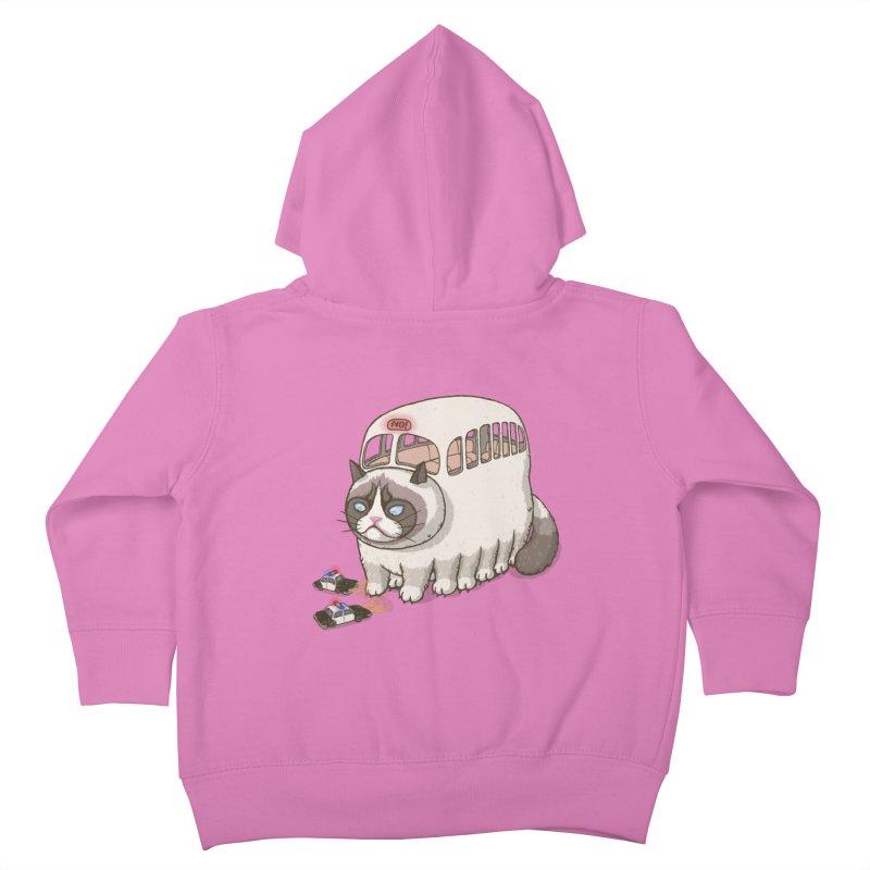 grumpy bus Kids Toddler Zip-Up Hoody by makapa's Artist Shop