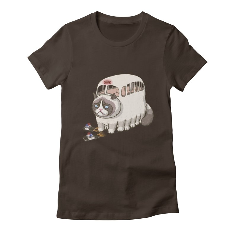 grumpy bus Women's Fitted T-Shirt by makapa's Artist Shop