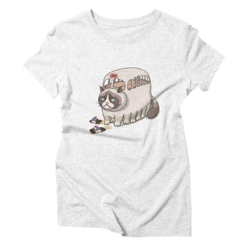 grumpy bus Women's Triblend T-shirt by makapa's Artist Shop
