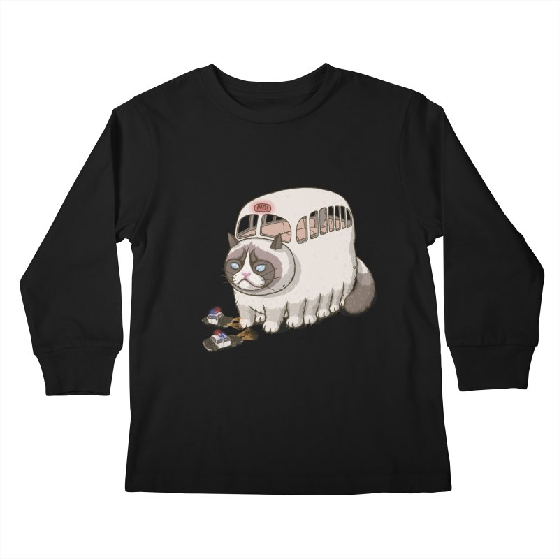 grumpy bus Kids Longsleeve T-Shirt by makapa's Artist Shop