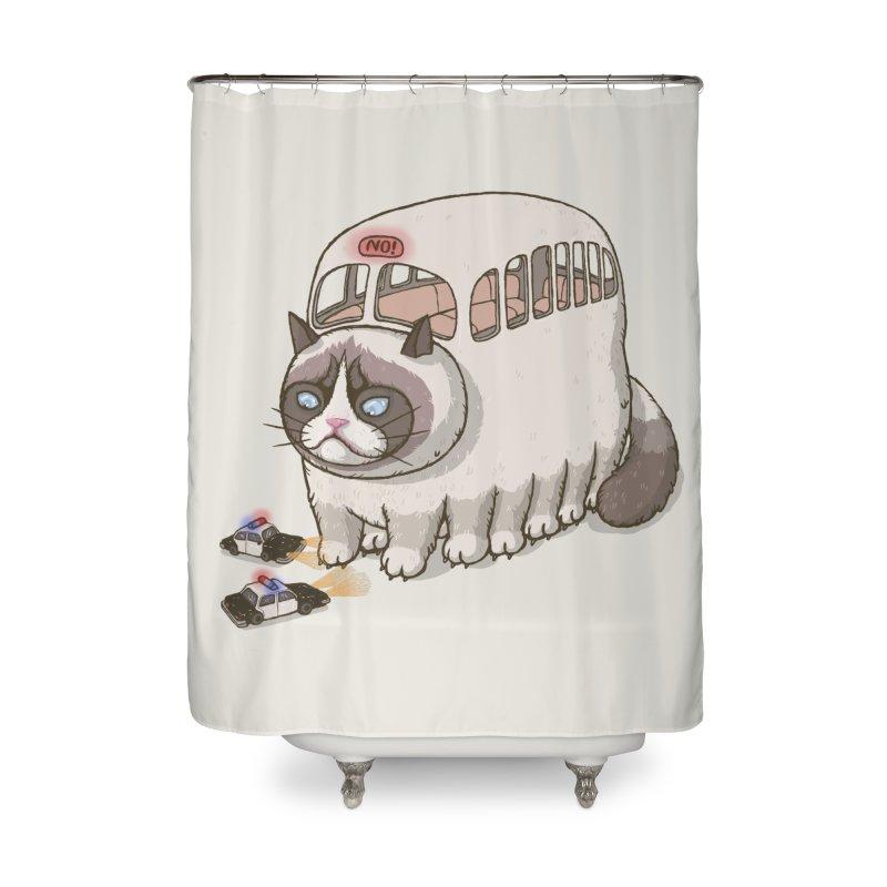 grumpy bus Home Shower Curtain by makapa's Artist Shop