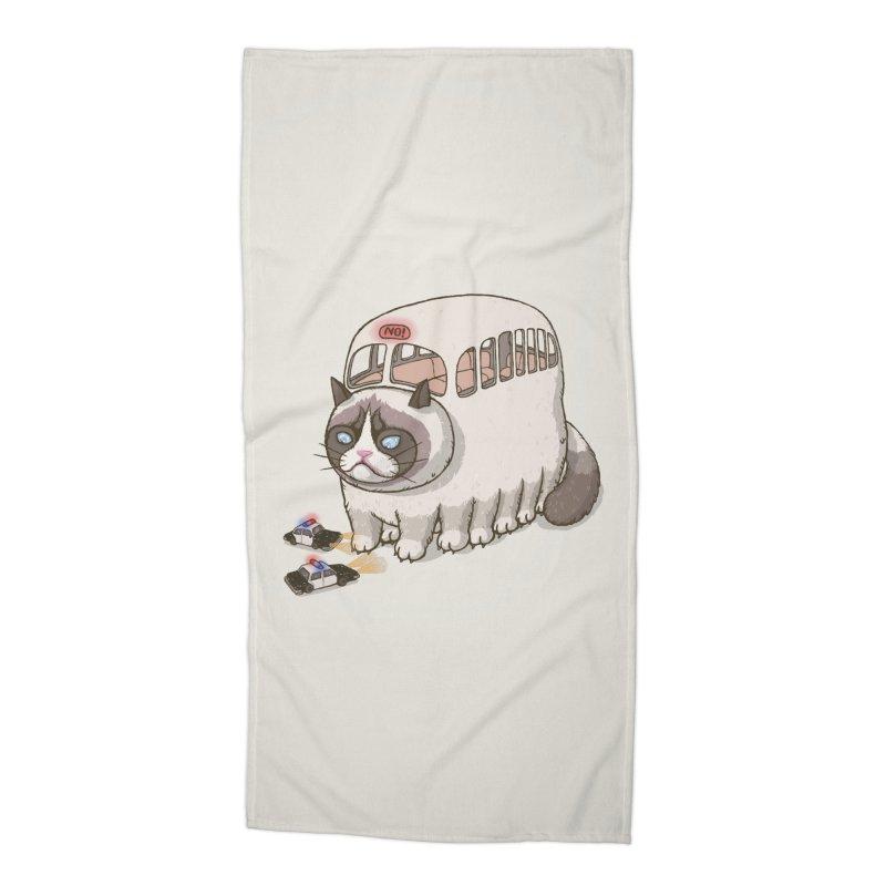 grumpy bus Accessories Beach Towel by makapa's Artist Shop
