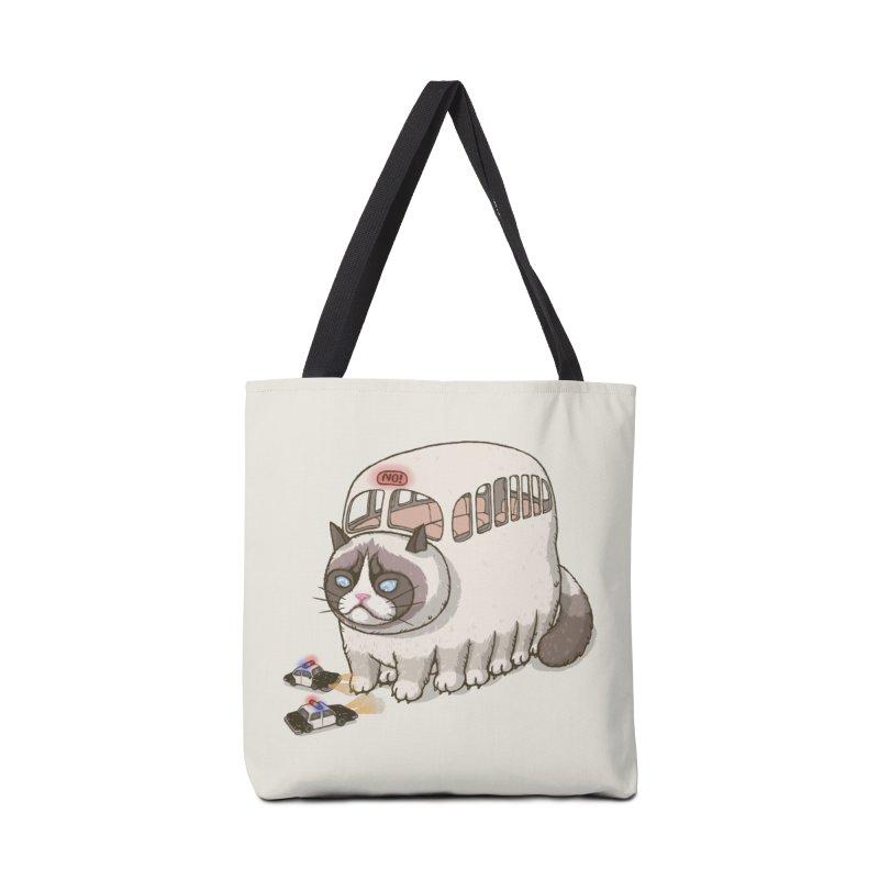 grumpy bus Accessories Bag by makapa's Artist Shop