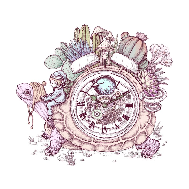 slow alarm clock Accessories Sticker by makapa's Artist Shop