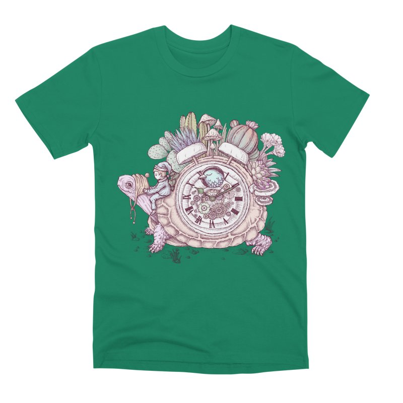 slow alarm clock Men's Premium T-Shirt by makapa's Artist Shop
