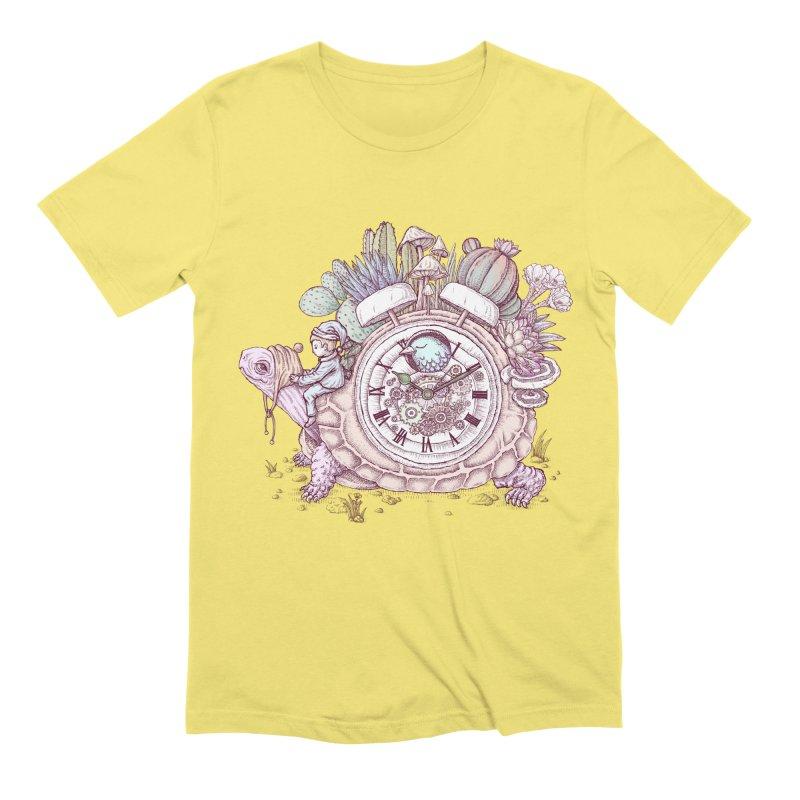 slow alarm clock Men's Extra Soft T-Shirt by makapa's Artist Shop