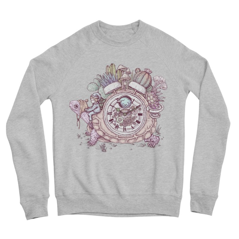 slow alarm clock Women's Sponge Fleece Sweatshirt by makapa's Artist Shop