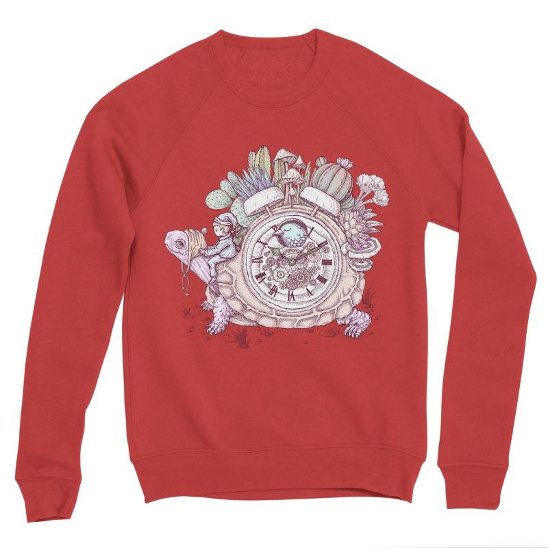 slow alarm clock Men's Sponge Fleece Sweatshirt by makapa's Artist Shop