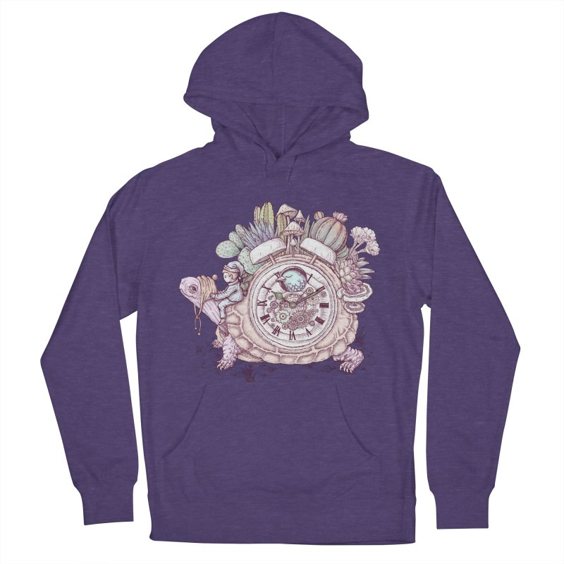 slow alarm clock Men's French Terry Pullover Hoody by makapa's Artist Shop