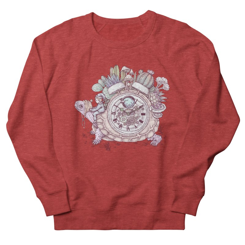 slow alarm clock Men's French Terry Sweatshirt by makapa's Artist Shop