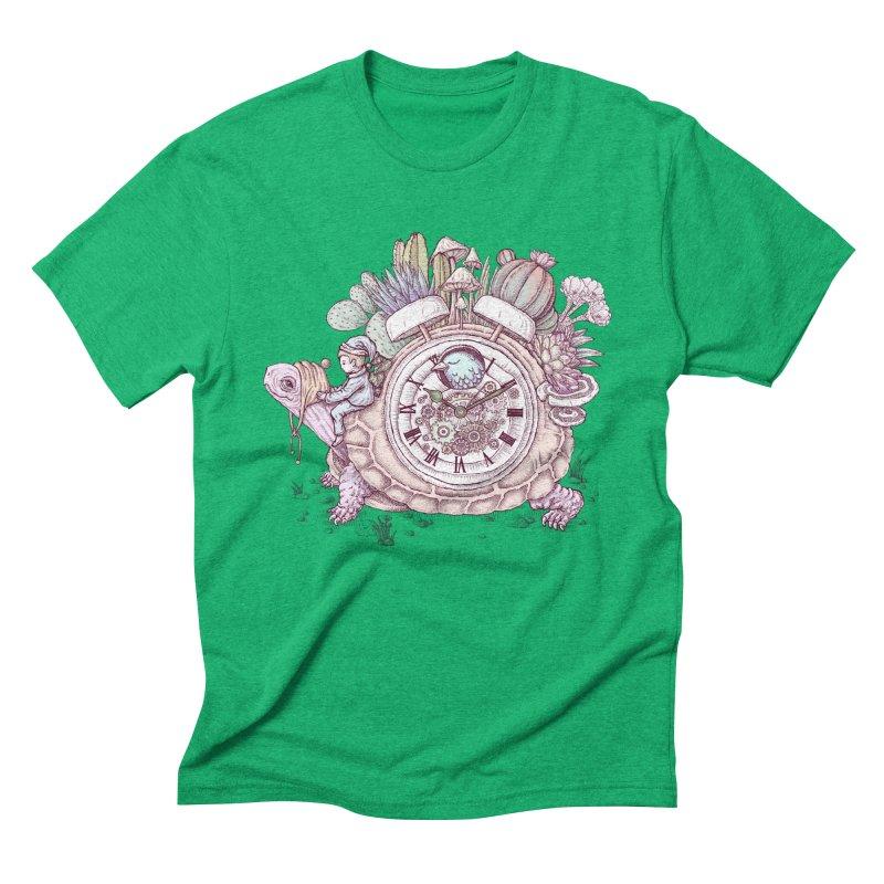 slow alarm clock Men's Triblend T-Shirt by makapa's Artist Shop
