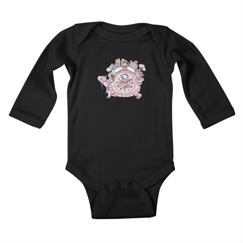 slow alarm clock Kids Baby Longsleeve Bodysuit by makapa's Artist Shop