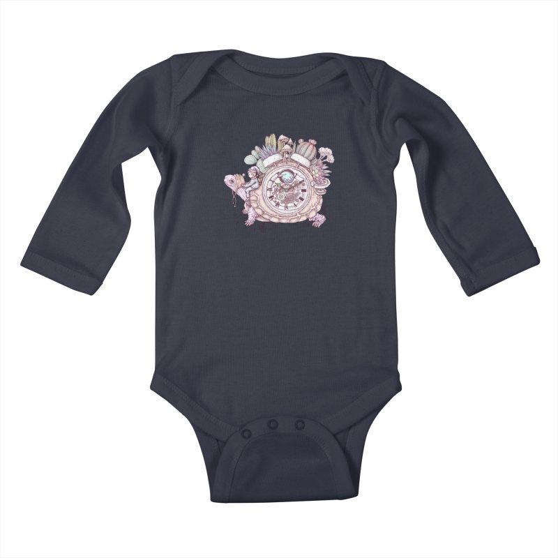 slow alarm clock Kids Baby Longsleeve Bodysuit by makapa's Artist Shop