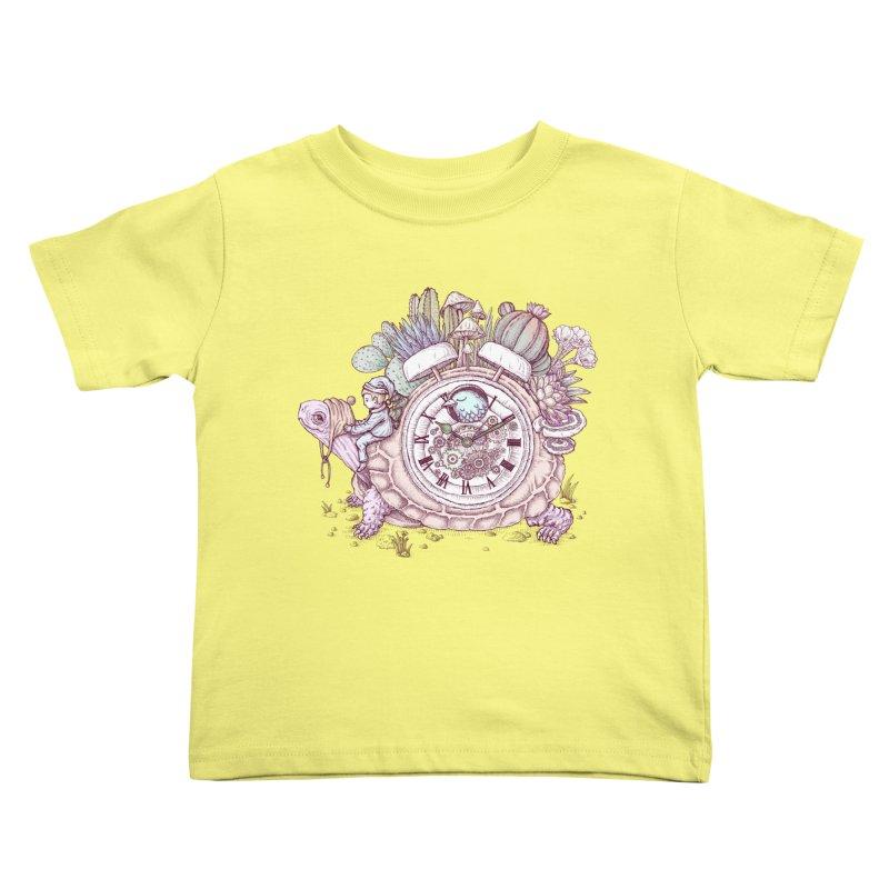 slow alarm clock Kids Toddler T-Shirt by makapa's Artist Shop