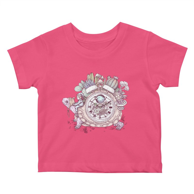 slow alarm clock Kids Baby T-Shirt by makapa's Artist Shop