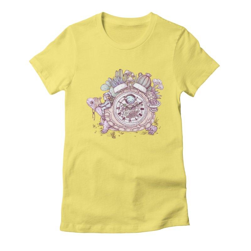 slow alarm clock Women's T-Shirt by makapa's Artist Shop