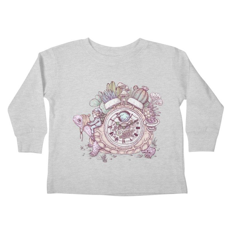 slow alarm clock Kids Toddler Longsleeve T-Shirt by makapa's Artist Shop