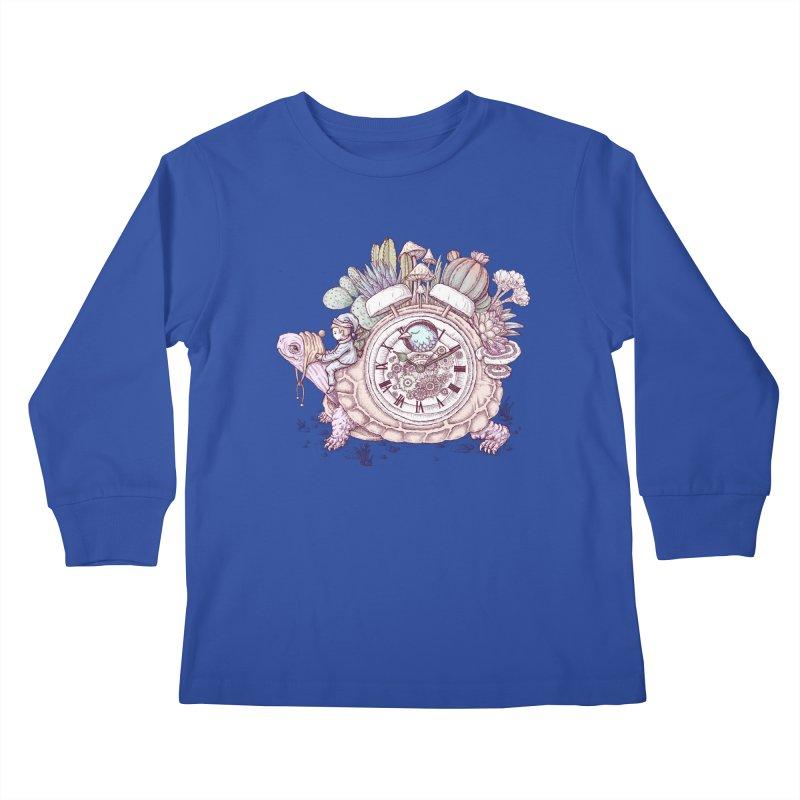 slow alarm clock Kids Longsleeve T-Shirt by makapa's Artist Shop