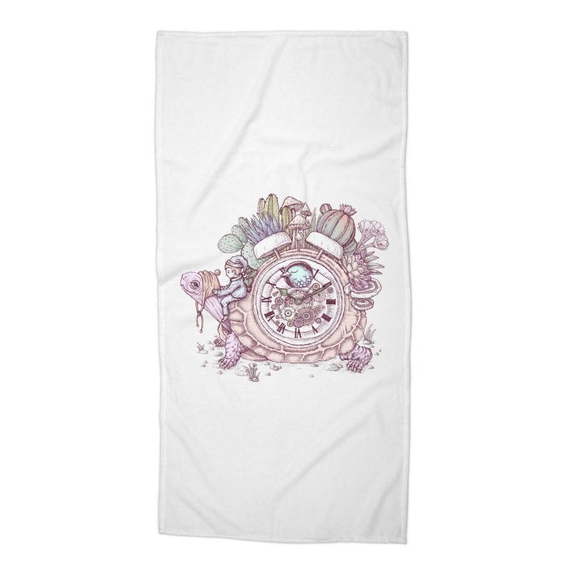 slow alarm clock Accessories Beach Towel by makapa's Artist Shop
