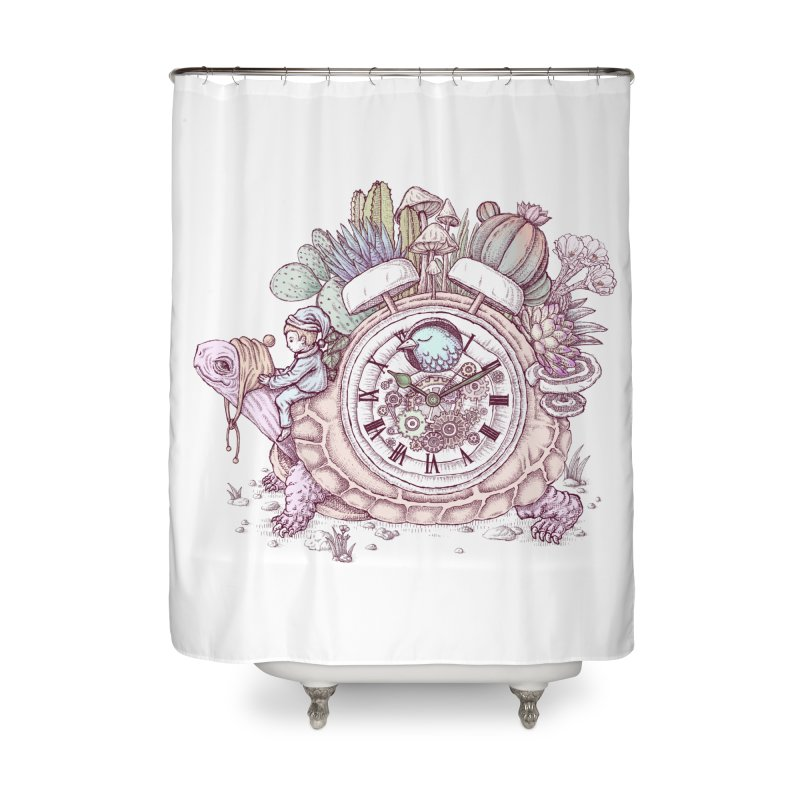 slow alarm clock Home Shower Curtain by makapa's Artist Shop