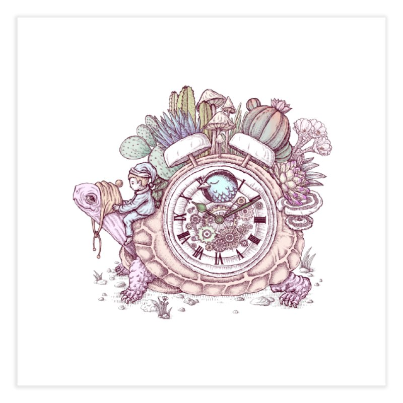 slow alarm clock Home Fine Art Print by makapa's Artist Shop