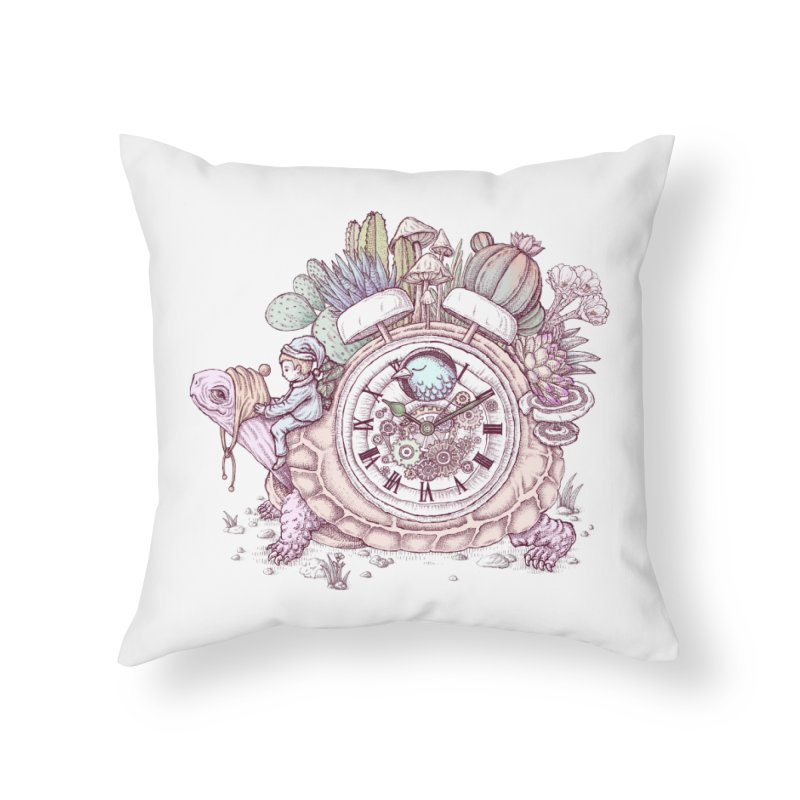 slow alarm clock Home Throw Pillow by makapa's Artist Shop