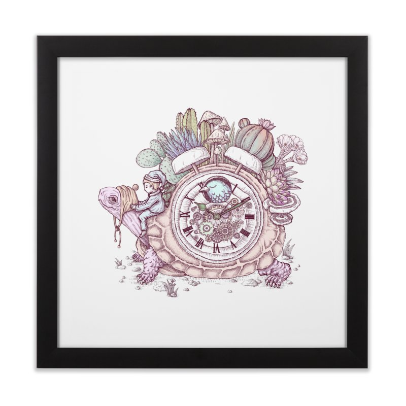 slow alarm clock Home Framed Fine Art Print by makapa's Artist Shop