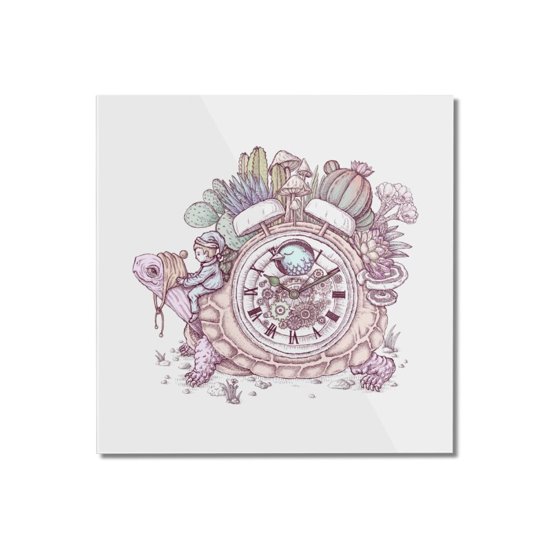 slow alarm clock Home Mounted Acrylic Print by makapa's Artist Shop