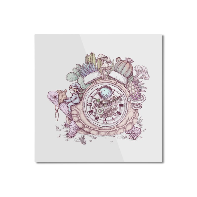 slow alarm clock Home Mounted Aluminum Print by makapa's Artist Shop