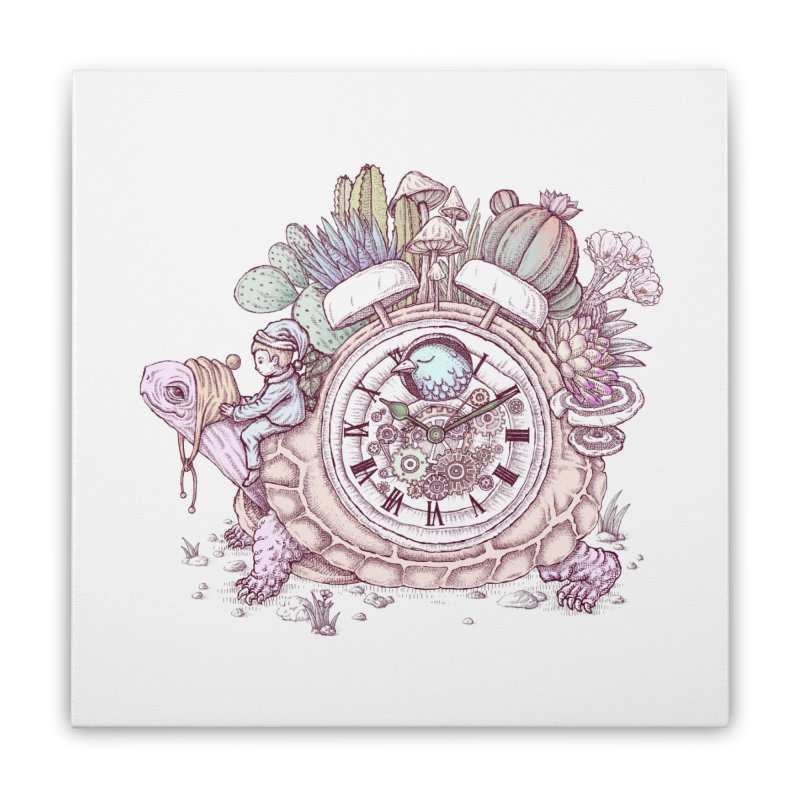 slow alarm clock Home Stretched Canvas by makapa's Artist Shop