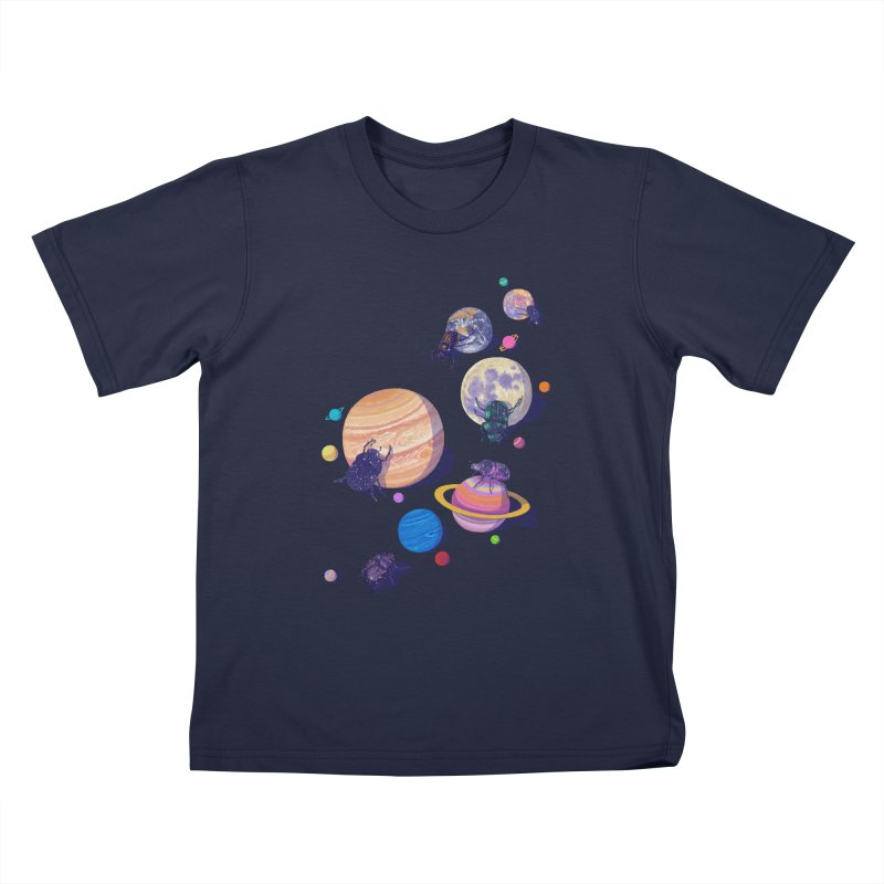 rolling stars Kids T-Shirt by makapa's Artist Shop