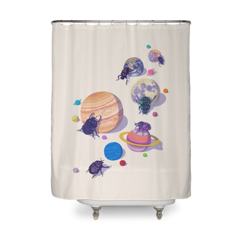 rolling stars Home Shower Curtain by makapa's Artist Shop