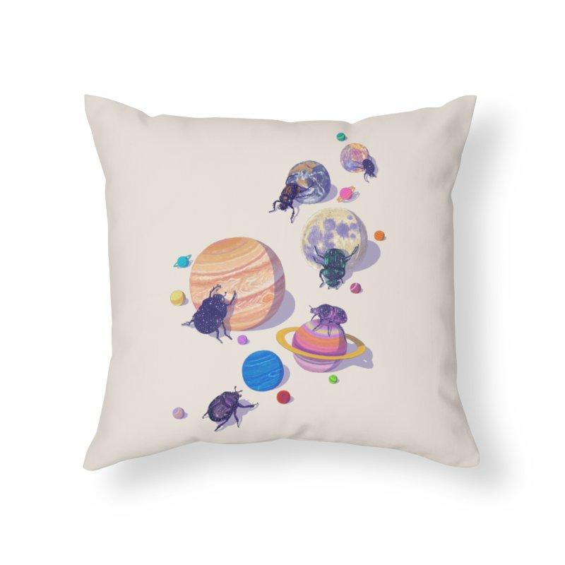 rolling stars Home Throw Pillow by makapa's Artist Shop