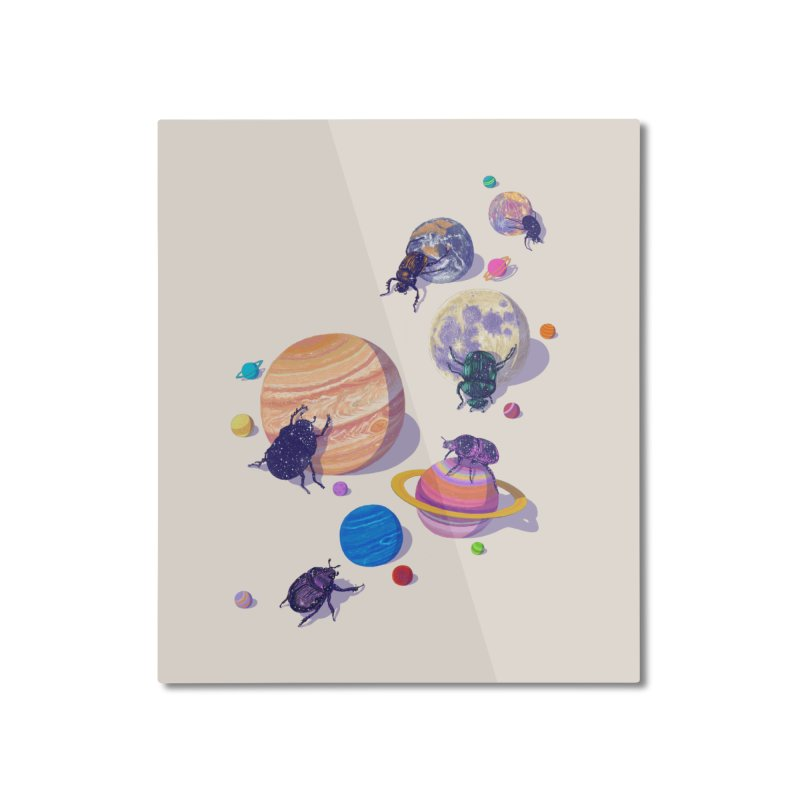 rolling stars Home Mounted Aluminum Print by makapa's Artist Shop