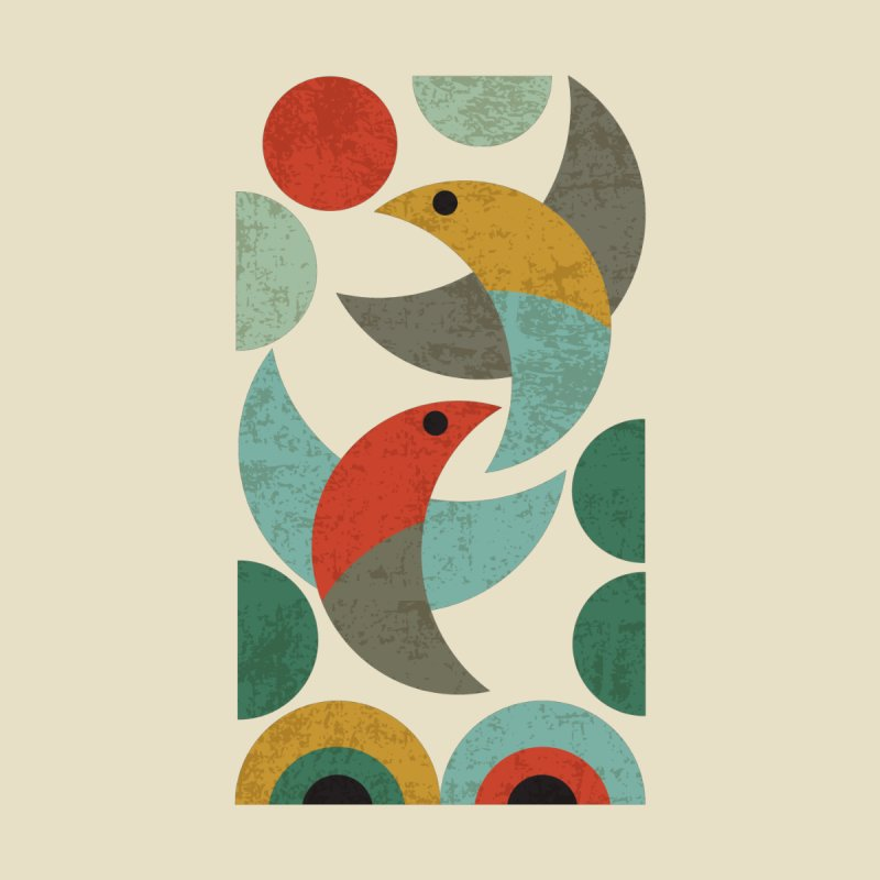 Landscape with birds Men's T-Shirt by makart's Artist Shop