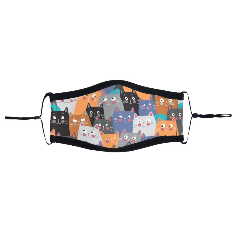 cats,cats,cats.... Accessories Face Mask by makart's Artist Shop