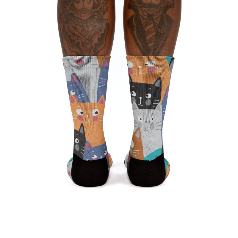 cats,cats,cats.... Women's Socks by makart's Artist Shop