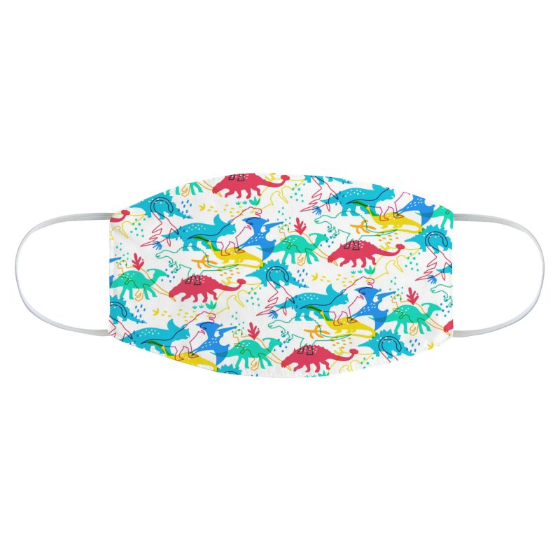 Dinosaurs Accessories Face Mask by makart's Artist Shop