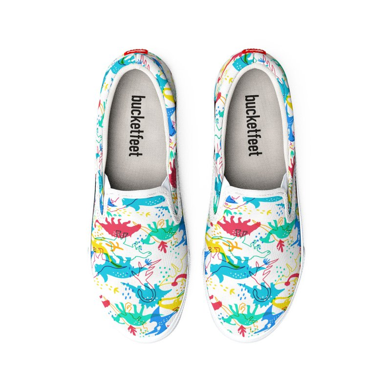 Dinosaurs Women's Shoes by makart's Artist Shop
