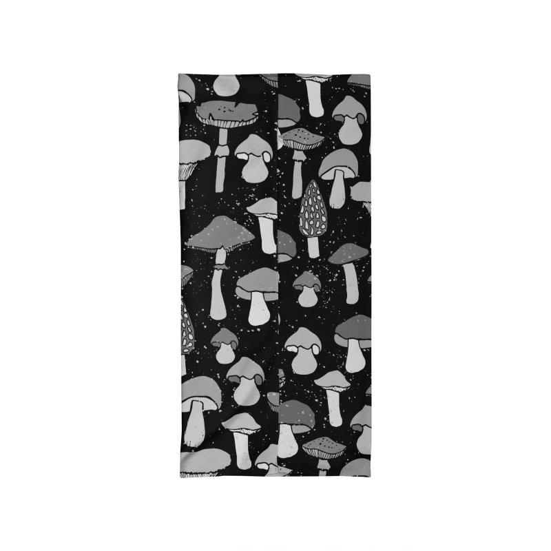 Magic mushrooms-black Accessories Neck Gaiter by makart's Artist Shop