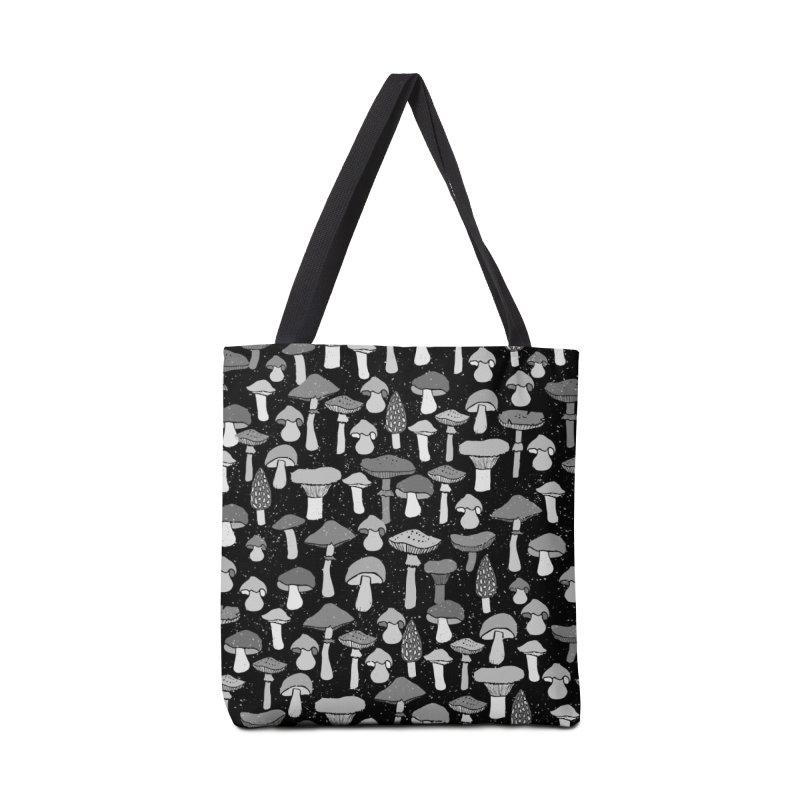 Magic mushrooms-black Accessories Bag by makart's Artist Shop