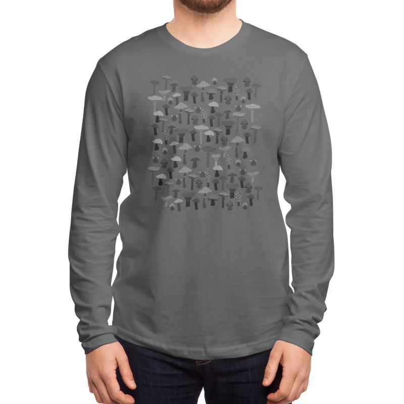 Magic mushrooms-black Men's Longsleeve T-Shirt by makart's Artist Shop