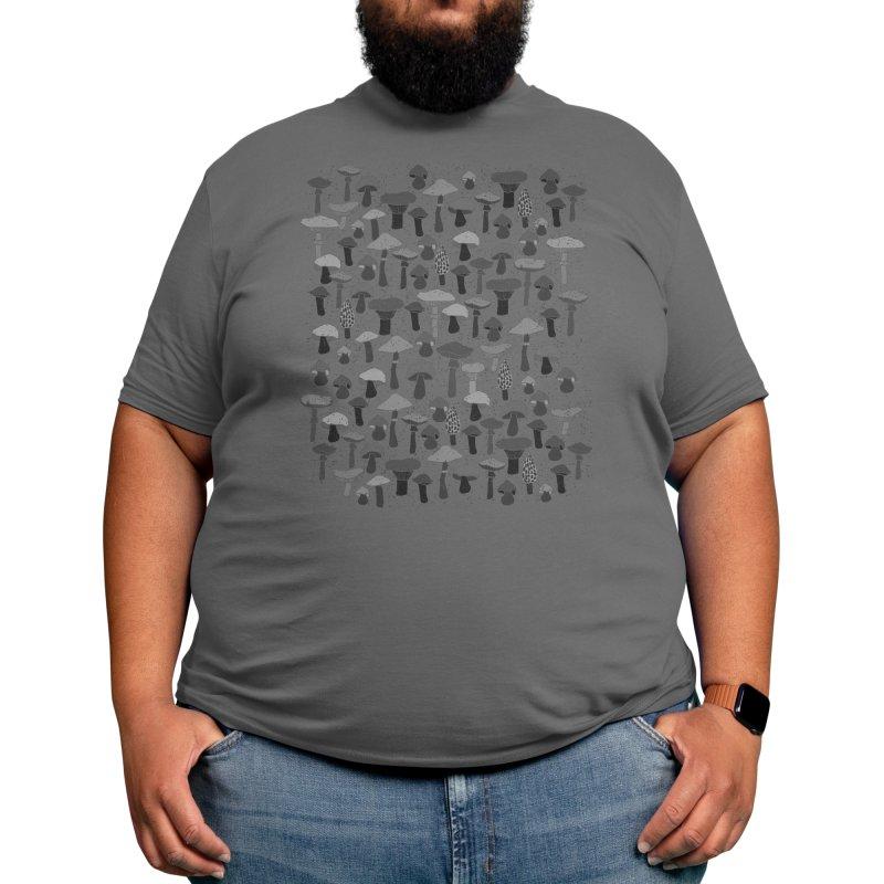 Magic mushrooms-black Men's T-Shirt by makart's Artist Shop