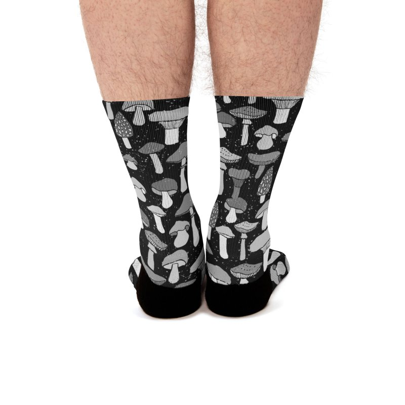 Magic mushrooms-black Men's Socks by makart's Artist Shop