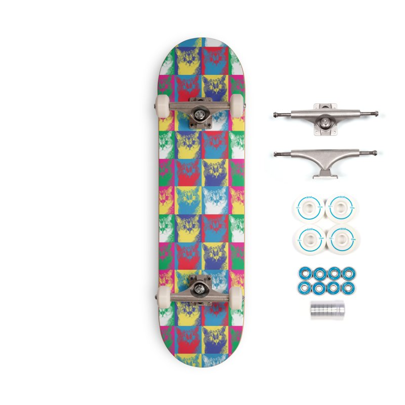 Pop art cats Accessories Skateboard by makart's Artist Shop