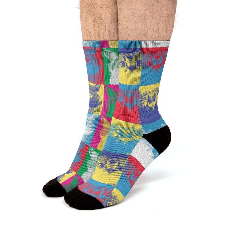 Pop art cats Men's Socks by makart's Artist Shop