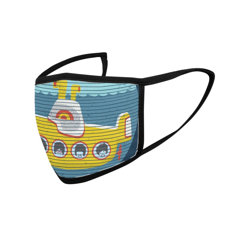 Yellow Submarine Accessories Face Mask by makart's Artist Shop